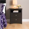 Prepac Sonoma 2 Drawer Nightstand