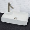 DecoLav Matt Muenster Exclusive Collection Vitreous China Above Counter Rectangular Lavatory with Offset Single Hole Faucet Drilling