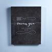 Checkerboard, Ltd Mangia Personalized Canvas Textual Art