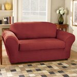 Sure Fit Stretch Pique Separate Seat Loveseat Slipcover
