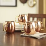 Birch Lane Hammered Copper Mule Mugs (Set of 4)
