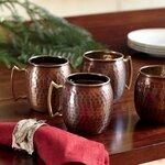 Birch Lane Russet Moscow Mule Mugs (Set of 4)