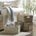 Birch Lane Rivergrass Rectangular Storage Baskets with Handles
