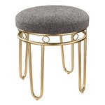 House Of Hampton Beckett Vanity Stool In Golden Bronze