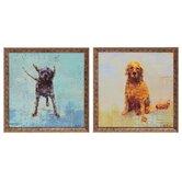 Shake / Golden Dog 2 Piece Framed Painting Print Set