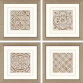 Moroccan Tiles by Smith 4 Piece Framed Graphic Art Set