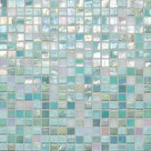 """City Lights 0.5"""" x 0.5"""" Glass Mosaic Tile in South Beach"""