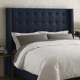 Nail Button Linen Upholstered Wingback Headboard