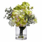 Silk Hydrangeas with Vase