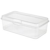 Large Clear Flip Top Storage Box (Set of 6)