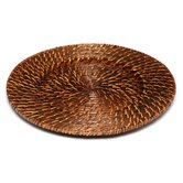"""13"""" Round Rattan Charger Plate (Set of 4)"""