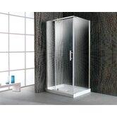 40'' Corner Glass Pivot Door Shower Enclosure with Acrylic Base