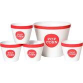Trimmed 5 Piece Popcorn Bucket Set