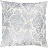 "T-3593 18"" Decorative Pillow in Silver White"