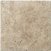 "Natural Stone 4"" x 4"" Travertine Field Tile in Walnut"