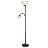 """Torchiere 71""""  Floor Lamp with Side Reading Lamp"""