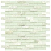 "Sierra 0.5"" x 1.875"" Glass & Natural Stone Mosaic Tile in Ming"