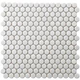 """Retro 0.75"""" x 0.75"""" Porcelain Mosaic Tile in White"""