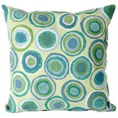 Puddle Dot Square Indoor/Outdoor Pillow in Spa