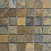 "2"" x 2"" Slate Mosaic Tile in California Rustic"