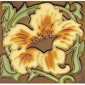 """Mission 6"""" x 6"""" Hand-Painted Ceramic Decorative Tile in Paraiso"""
