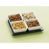432 4 Piece Square Bowl Set with Serving Tray