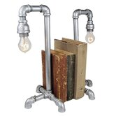 "Industrial Evolution Bookend 19.5"" H Table Lamp"