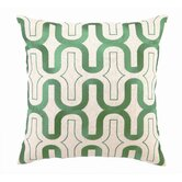 Honeycomb ed Embroidered Linen Pillow