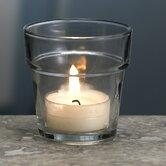 Glass Flower Pot Votive Candle Holder