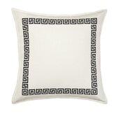 Greek Key Cotton Throw Pillow