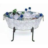 Embossed Oval Steel Beverage Tub