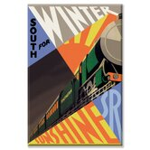 South for Winter Sunshine Southern Railroad Vintage Advertisement on Wrapped Canvas