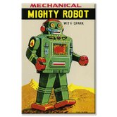 Mechanical Mighty Robot Vintage Advertisement on Wrapped Canvas