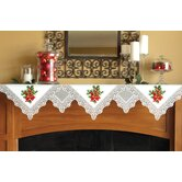Boughs of Holly Mantle Scarf