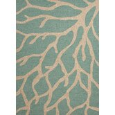 Frosty Green / Ivory Coastal Indoor / Outdoor Area Rug