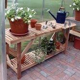 5' Greenhouse Cedar Potting Table