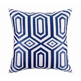 Hotel Soho Embroidered Linen Throw Pillow