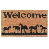 Horses Welcome Doormat