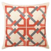 Geometric Tile Linen Throw Pillow