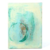 'Teal Enso' by Elena Ray Photographic Print on Wrapped Canvas