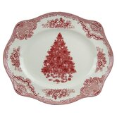 Old Britain Castles Christmas Oval Platter