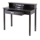 Liso Home Office Writing Desk with Hutch