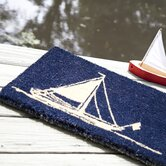 Handmade Sailboat Doormat