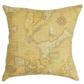 Fujita Map Cotton Throw Pillow