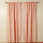 Interlocking Squares Rod Pocket Curtain Panel (Set of 2)