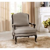 Baxton Studio Antoinette Classic Antiqued French Arm Chair