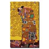 "Fulfillment Framed by Gustav Klimt, Canvas Art - 24"" x 18"""