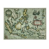 """Map of the East Indies 1635"" Painting Print on Wrapped Canvas"
