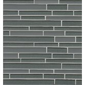 Manhattan Random Sized Glass Mosaic Tile in Gray