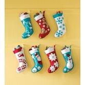 North Pole Choo Choo Christmas Stocking